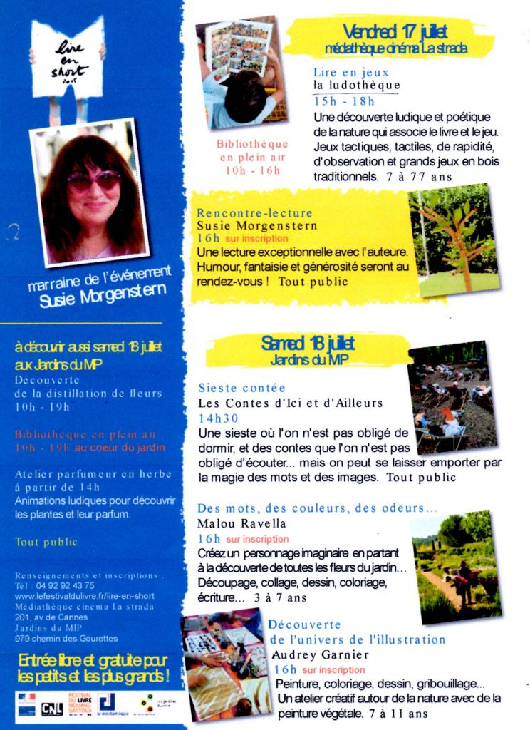 AFFICHE LIRE EN SHORT 17/07/2015